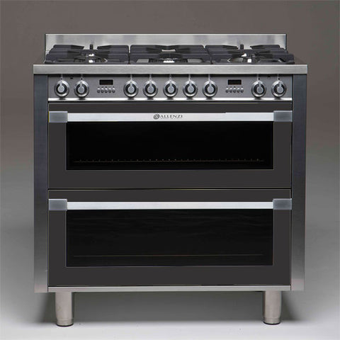 Allenzi Anthracite 90cm Wide Freestanding Double Oven-AS9DEEGS(Anthracite)