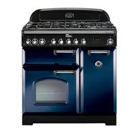 Falcon Classic Deluxe R-Blue 90cm Dual Fuel Stove-S9-CDL90DFRB/CH or S9-CDL90DFRB/BR