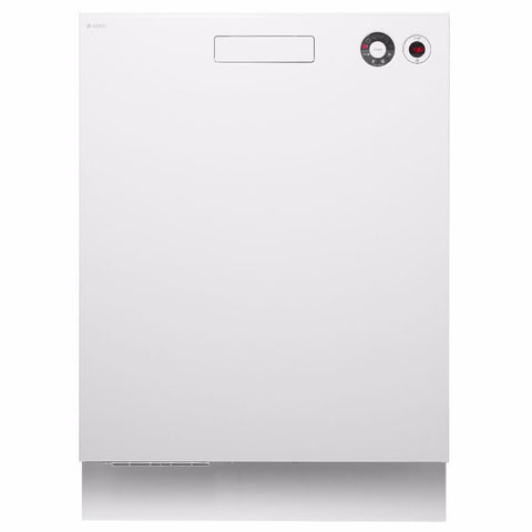Asko 6 Program White Built-in Dishwasher-D-D5424W  WELS Registration Number: D00901   WELS rating: 4 stars, 13.9L/wash. Energy rating: 3.5 stars, 275 kWh per year.