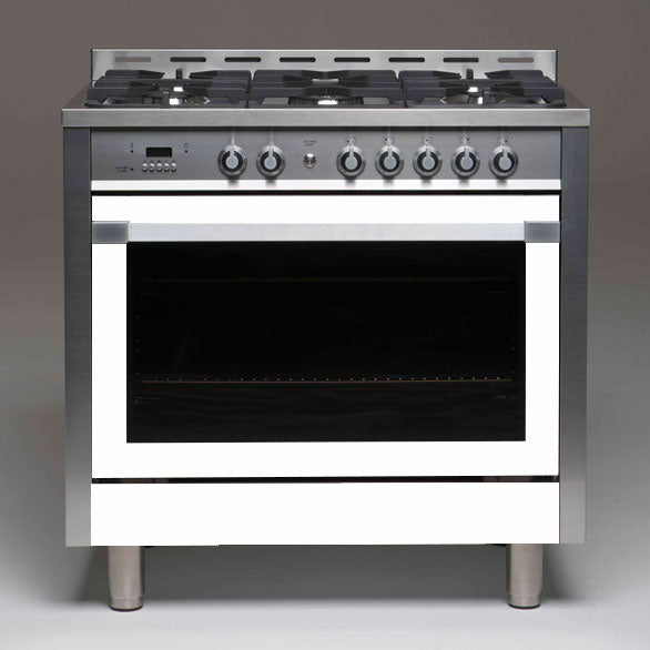 Allenzi White 90cm Wide Freestanding Oven-AS9SEGS(White)