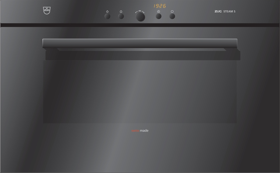 X-Display V-ZUG Steam S Oven-ST-SZ60 (Black glass trim)