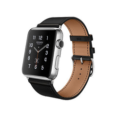 Apple Montre 38mm Noir Bracelet en cuir MLCP2 (Noir)