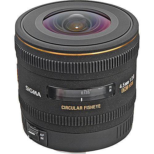 Objectif Sigma 4.5mm F2.8 EX DC FISHEYE CIRCULAIRE HSM (Canon)