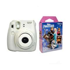 Fuji Film Instax Mini 8 Appareil Photo Instantané avec Papier Photo Instax Mini (Frozen) Blanc