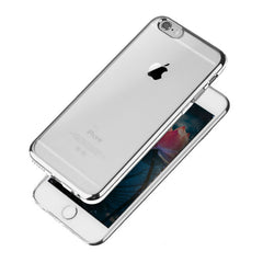 Transparent Silicone Protection Bumper Case for iPhone 5/5S/SE (Silver)