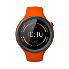 Motorola Moto 360 2nd Generation Sport 45MM Silicon Smart Montre (Flame Orange)