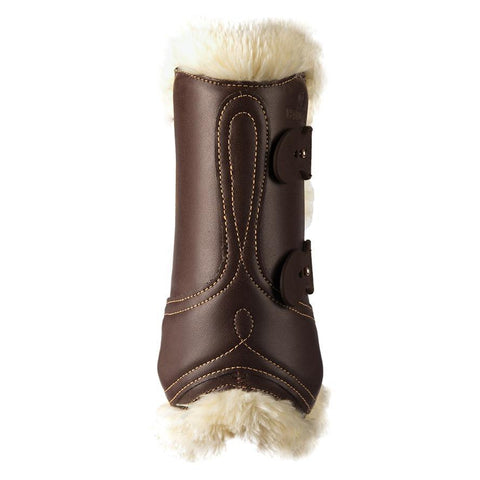 Image of Sheepskin Leather Tendon Elastic Boots
