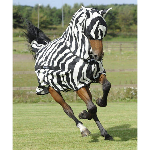 Buzz Off Zebra Full Neck Rug