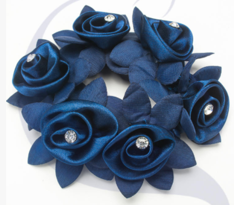 SD-Design Rose Scrunchie with Crystals