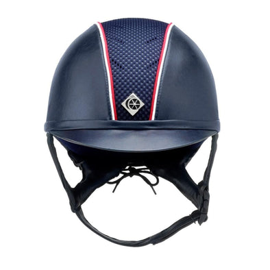 Charles Owen Ayr8 Leather Look Helmet with Piping (Custom)
