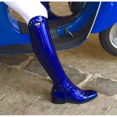 Secchiari Bespoke 100 Ladies Electric Blue Riding Boot