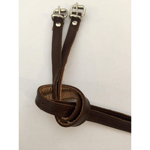 Secchiari Plain Leather Spur Straps