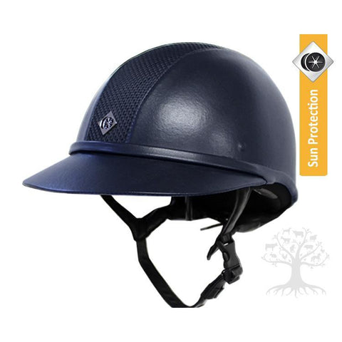 Image of Charles Owen SP8 Leather Look Helmet
