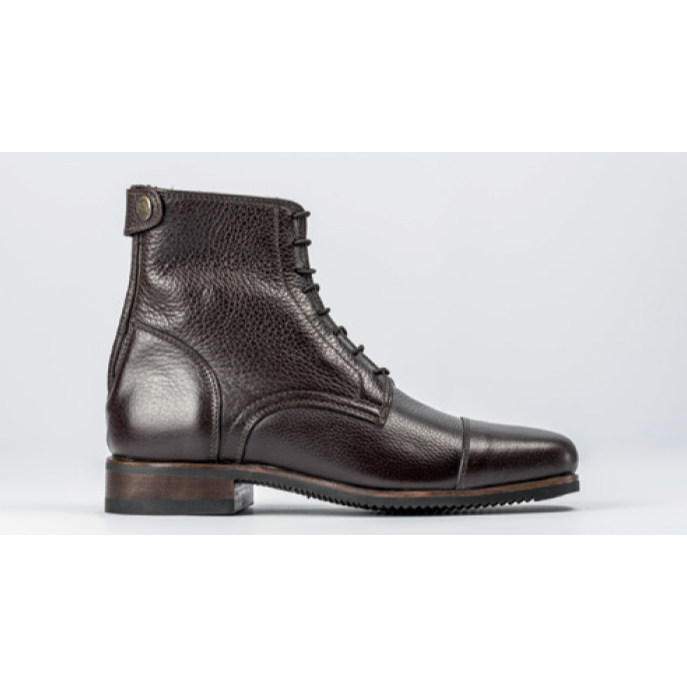 Secchiari Grained Leather CLASSIC Ankle Boots with Laces