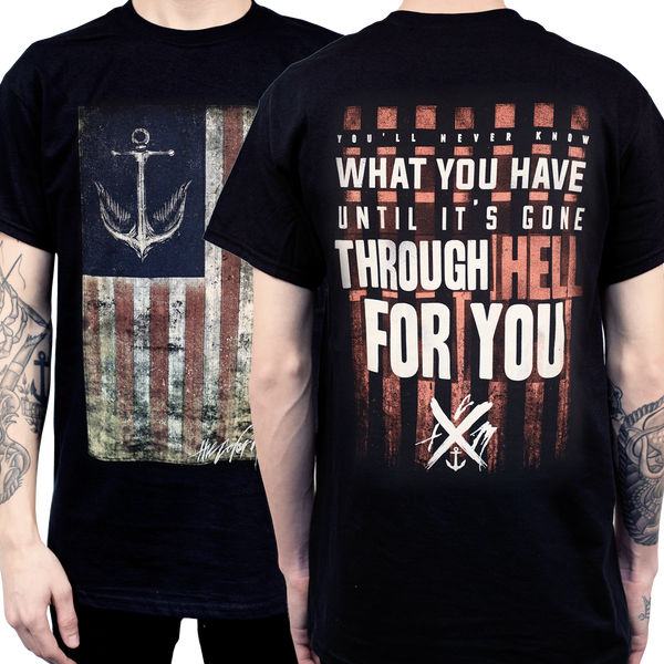 TCM Gone Through Hell Flag Tee