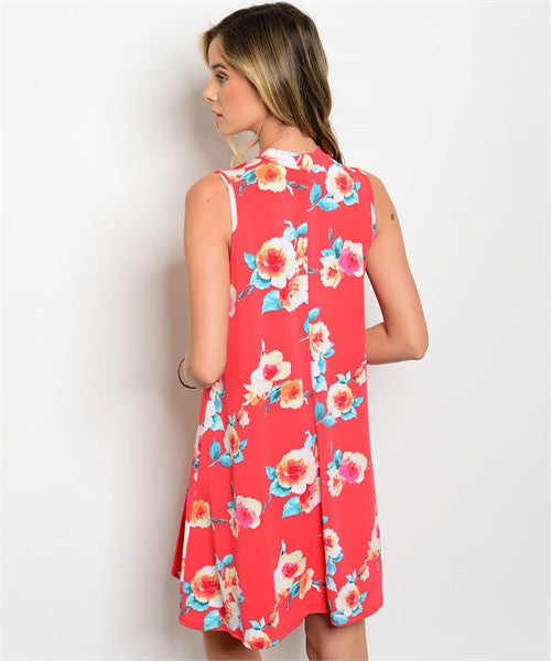 'More Than Ordinary' Sleeveless Floral Tunic Dress
