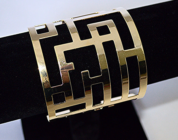 Maze Cuff Bracelet (Gold Also Available)