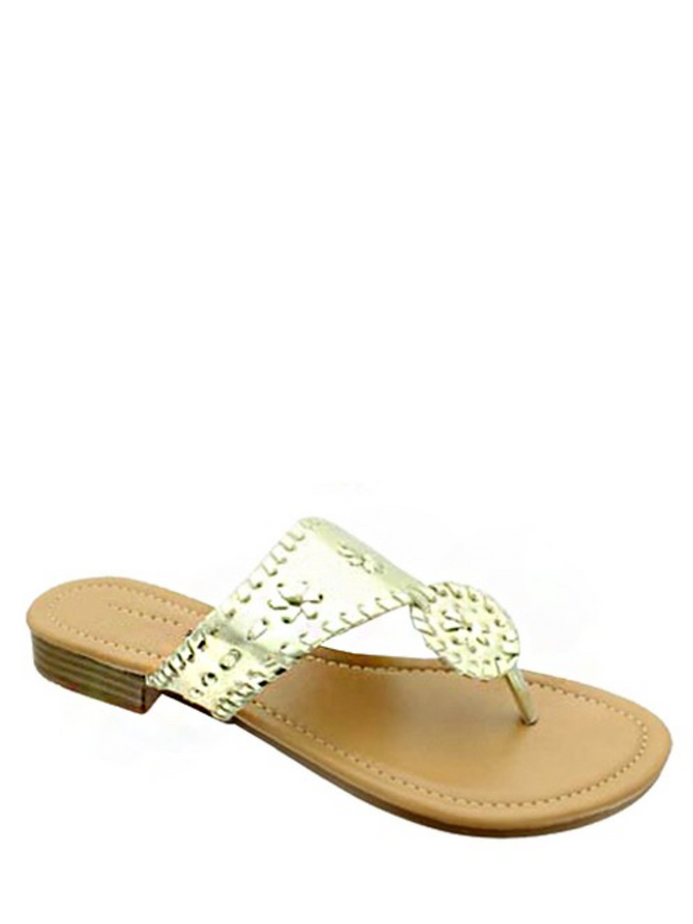 Gold Jack Rogers inspired sandals
