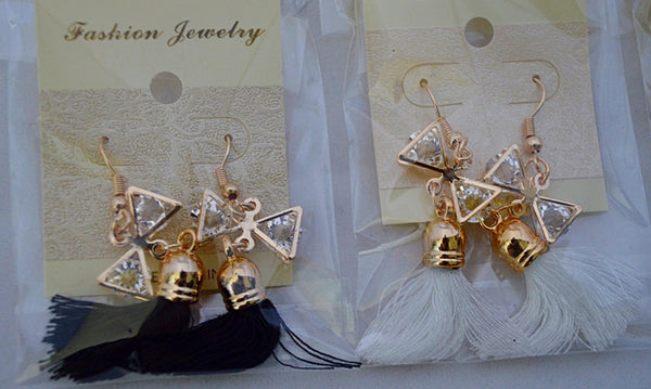 Bow Tassel Earrings (Multiple Colors Available)