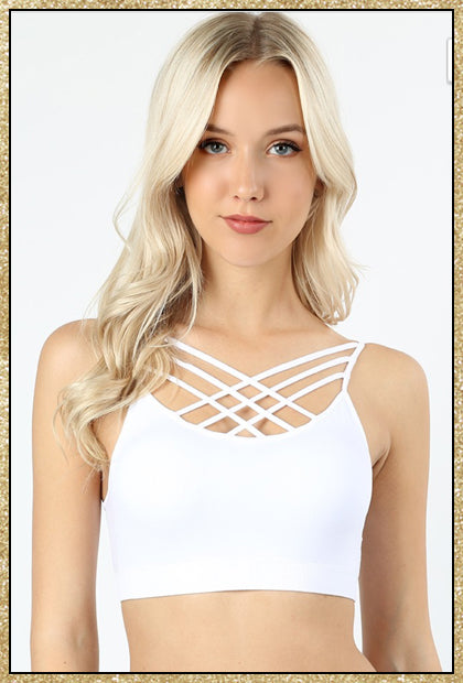 8385cc7a759  In The Making  White Criss-Cross Padded Bralette Top –  AffordablyChicBoutique