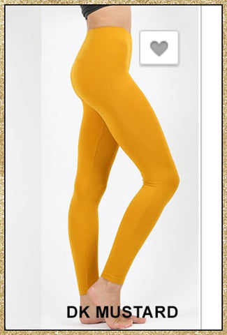 Dark mustard yellow ankle length leggings