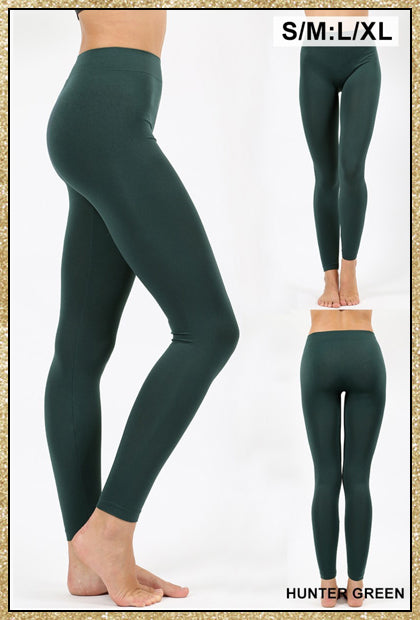 'The Only Way' Hunter Green Seamless Ankle Leggings