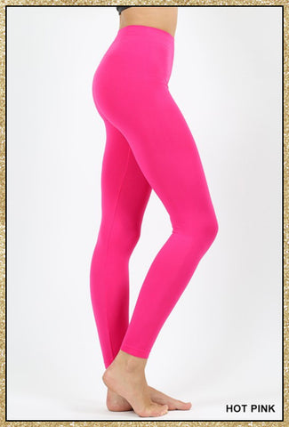'The Only Way' Hot Pink Seamless Ankle Leggings
