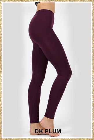 'The Only Way' Dark Plum Seamless Ankle Leggings