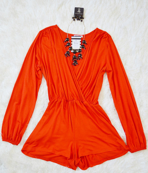 'Love You Always' Red Long Sleeve Romper