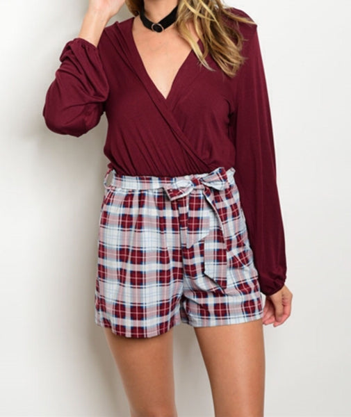 'Classically Cute' Plaid Romper
