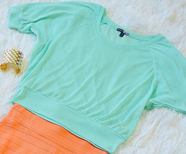 'So Sweet' Crop Top: Seafoam
