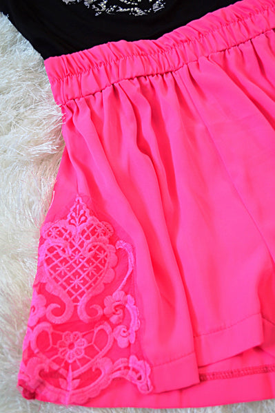 'Darling Pink' Pink Shorts