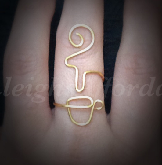 Custom Wire Coffee Tea Cup Ring (MADE TO ORDER)