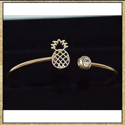 Pineapple Bracelet (Silver Also Available)