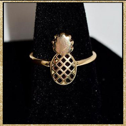 Pineapple Ring (Silver Also Available)