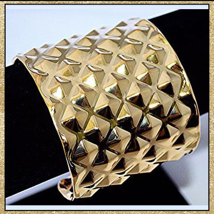 Studded Cuff Bracelet (Silver Also Available)
