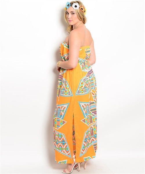'Colors Of The Wind' Maxi Dress(CURVY)