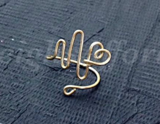 Custom Wire Heartbeat EKG Ring (MADE TO ORDER)