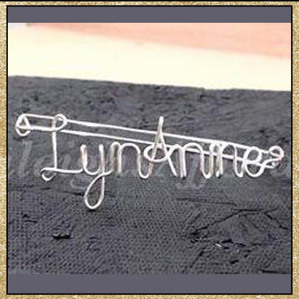 Custom Wire Name Word Bracelet (MADE TO ORDER)