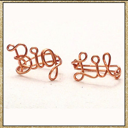 "Custom Wire ""Big"" ""Lil"" (Little) Ring Set (MADE TO ORDER)"