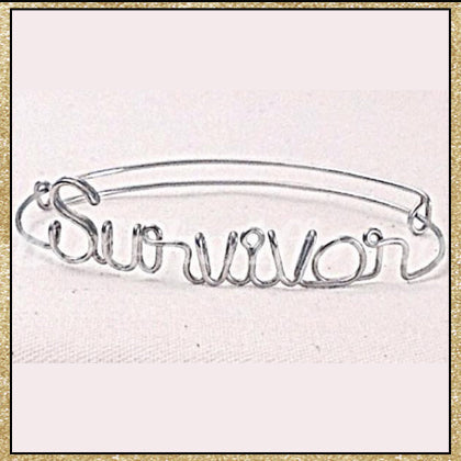 "Custom Wire ""Survivor"" Bracelet (MADE TO ORDER)"