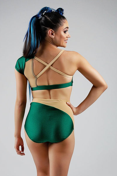 Cat Bottom - Emerald/Nude