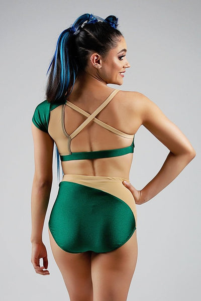 Cassie Top - Emerald/Nude