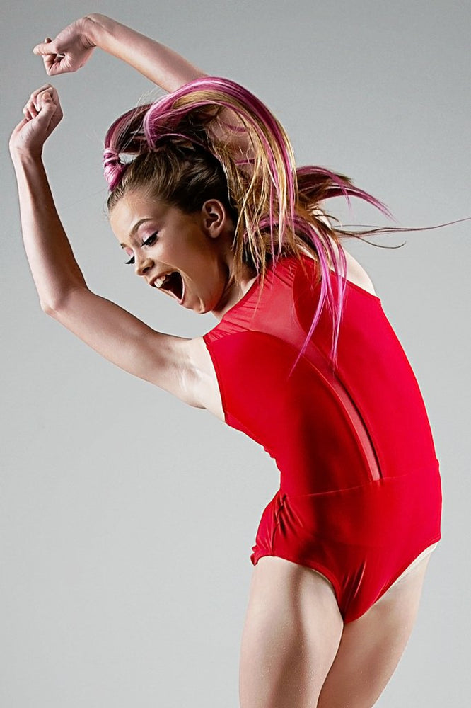 Gaby Leotard (Red Matte) - Dancewear
