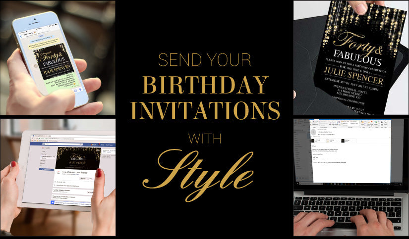 Send Your Birthday Invitations with Style