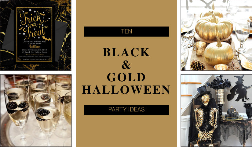 Trick or Treat - 10 Spooktacular Black and Gold Halloween Party Ideas