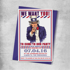 4th of July - Patriotic Invitations