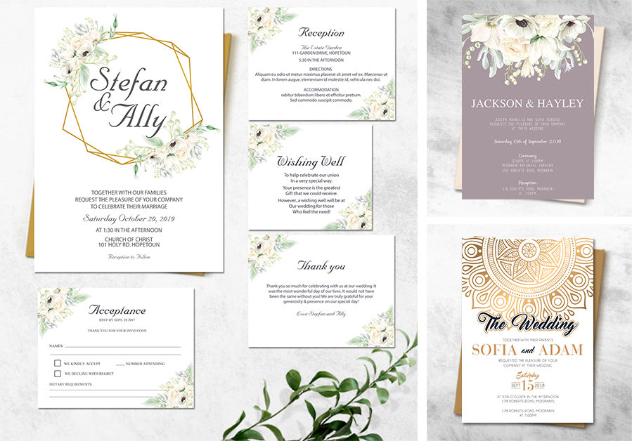 Affordable online wedding invitations