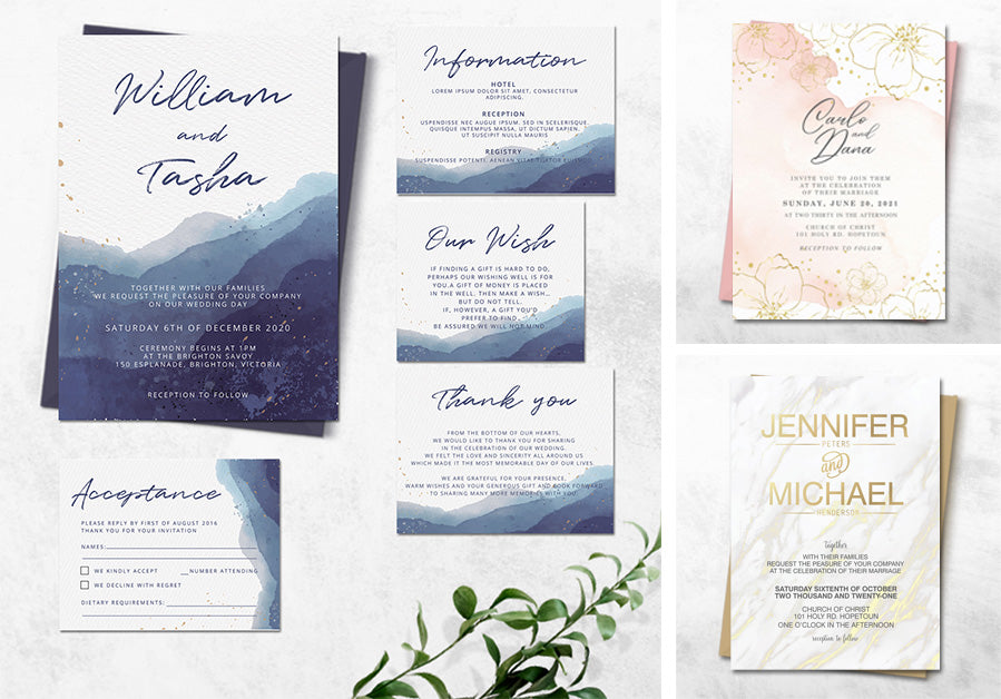 Digital weding invitations