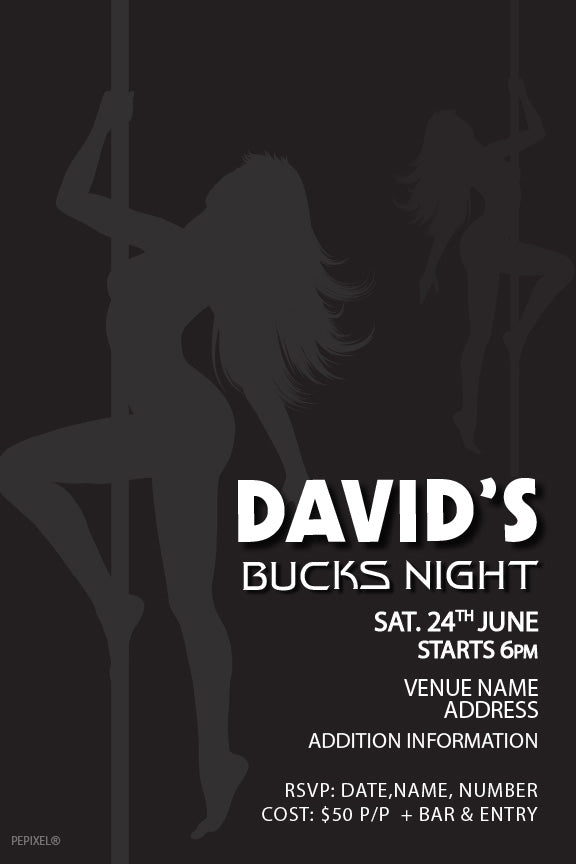 bachelor party invitation, sexy girls bachelor party invitation, stag party invitation, bucks party invitation,